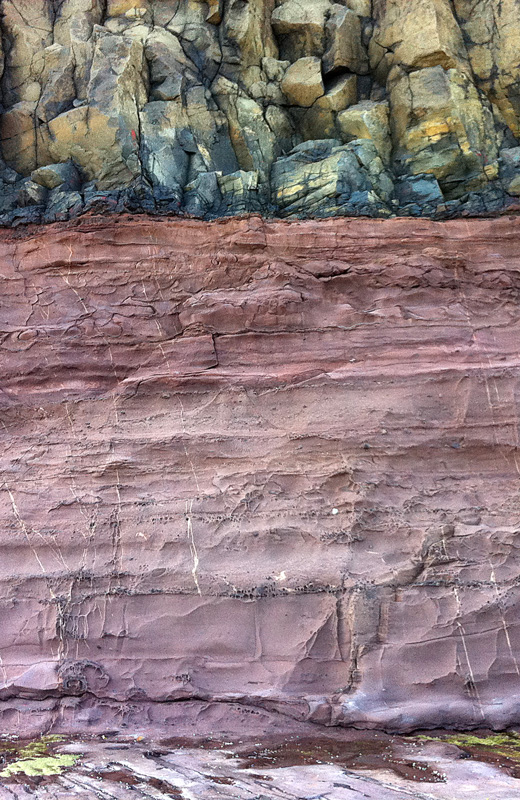 Basalt over sandstone photo