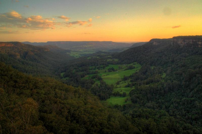 Looking out over Kangaroo Valley