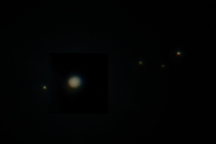 Jupiter and her moons - Seben Big Boss Telescope
